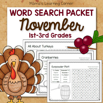 November Word Searches