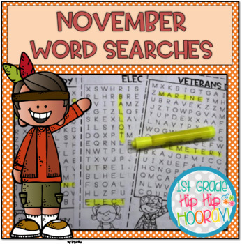 November Word Searches...Print and Go!