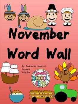 November Word Wall
