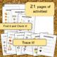 November, Noviembre Word Wall Cards & Activities!  BUNDLE