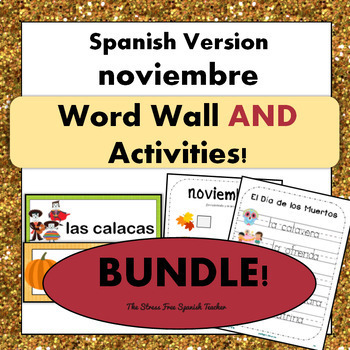 November Word Wall Cards & Activities! Thanksgiving / El D
