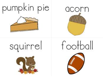 November Word Wall Cards