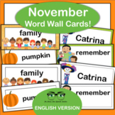 November Word Wall! Thanksgiving, Day of the Dead {English