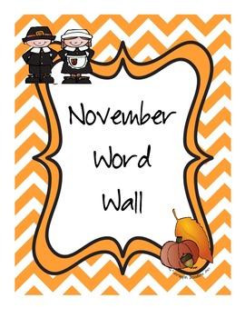November Word Wall Words