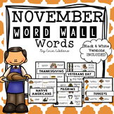 November Thematic Word Wall Words {125 Words for Thanksgiving, Veterans,& More!}