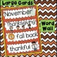 Word Wall and Tracing: November (Back to school, all, hand