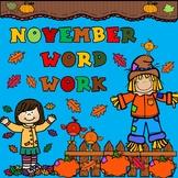 November Word Work