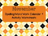 November Word Work Activities