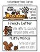 November Word Work Choice Board