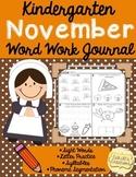November Word Work Journal
