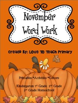 November Spelling