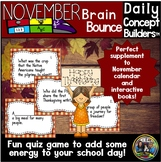November Word of the Day Vocabulary Game