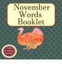 November Words Booklet