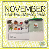 November Work Box Assembly Tasks