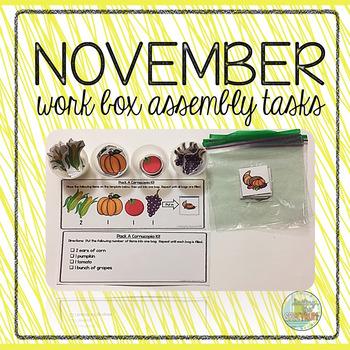 November Work Box Assembly Tasks