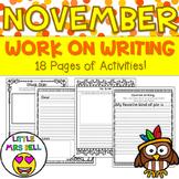 November Work on Writing Pack