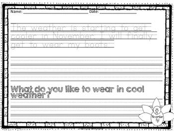 November Write-On (  Handwriting practice for 1st grade)