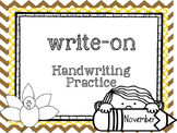 November Write-On (  Handwriting practice for 1st grade)