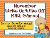 November Write On Wipe Off Math Games Common Core Correlated