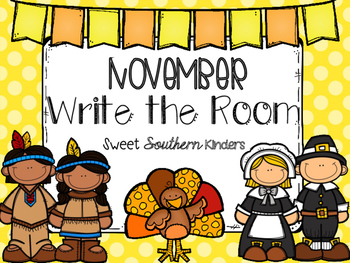 November Write the Room Activities