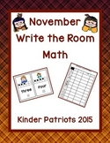 November Write the Room Math