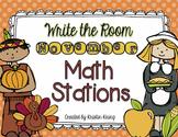 November Write the Room Math Stations