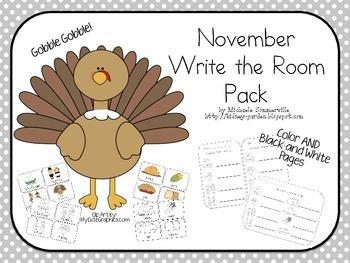 November Write the Room Pack