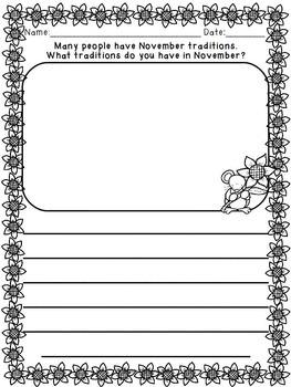 November Writing {Printable Journal &  Activities)