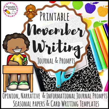 November Writing {Printable Activities)