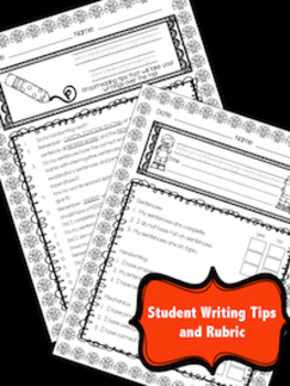 November Writing Prompts and Word Work Activities