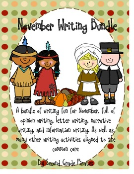 November Writing Bundle: Veteran's Day, Pilgrims, Thanksgiving and more!
