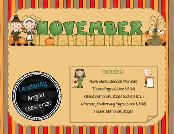 Monthly Writing Calendar - November
