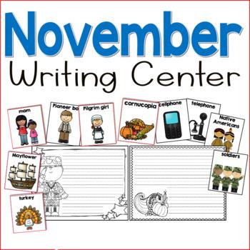 November Writing Center for Kindergarten and First Grade