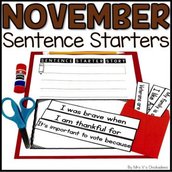 November Writing Activity: Interactive Sentence Starters