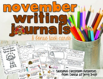 November Writing Journal and Task Cards