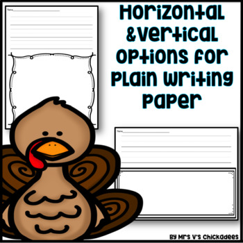 November Writing Activity: Thematic Writing Paper
