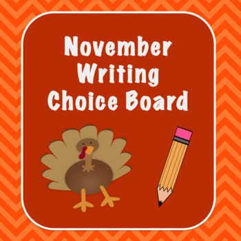 November Writing Choice Board