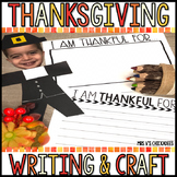 "November Writing & Craft: ""I Am Thankful"" Bulletin Board"