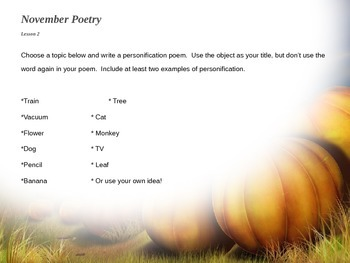 November Writing Daily Prompts - Full Month!