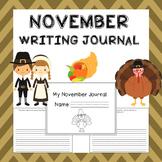 November Writing Activities / November Writing Journal