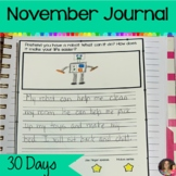 November Writing Journal   Writing Prompts