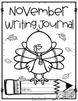 November FREEBIE! Kindergarten November Writing Journal