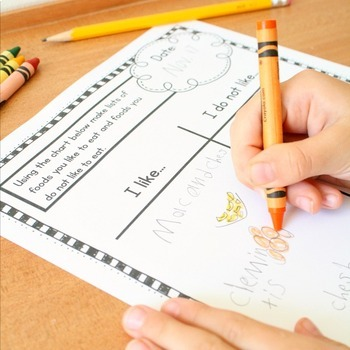 November Writing Journal Prompts for Preschool and Kindergarten