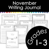 November Writing Journal with Prompts
