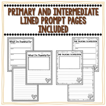 November Writing Organizers and Prompt Pages