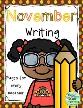 November Writing Pages