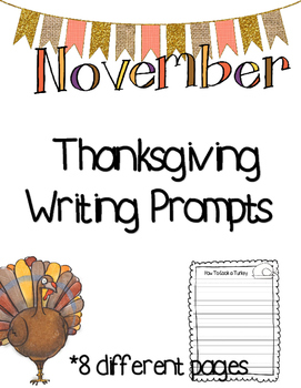 Thanksgiving-November Writing Pages