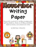 November Writing Paper