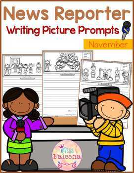 November Writing Picture Prompts - News Reporter