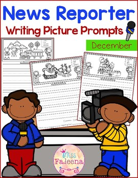 December Writing Picture Prompts - News Reporter